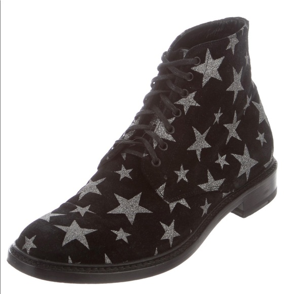 b847279c7c YSL Lolita 20 lace up star suede boots 37.5 7.5